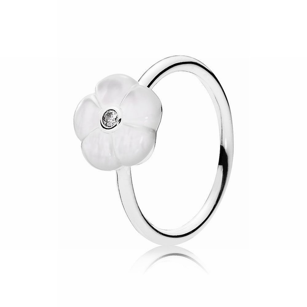16b59ab18 Pandora Luminous Florals Ring, Mother-Of-Pearl & Clear CZ 190999 ...