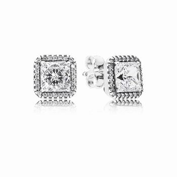 Pandora Timeless Elegance Stud Earrings, Clear CZ 290591CZ