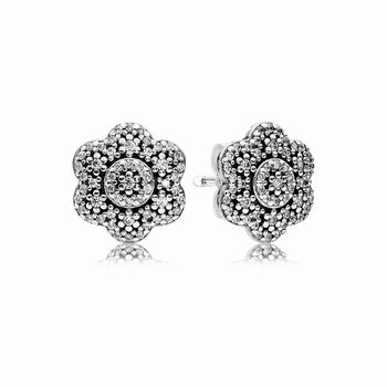 Pandora Crystallised Floral Stud Earrings 290732CZ