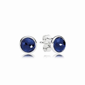 Pandora September Droplets Stud Earrings, Synthetic Sapphire 290