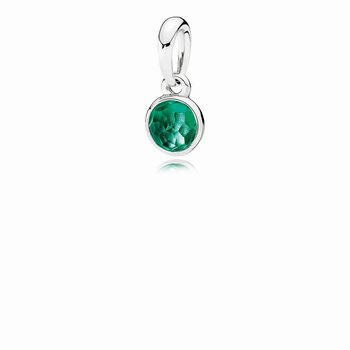 Pandora May Droplet Pendant, Royal-Green Crystal 390396NRG