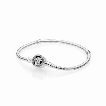Pandora Poetic Blooms Bracelet, Mixed Enamels & Clear CZ 590744C