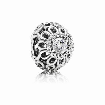 Pandora Floral Brilliance Charm, Clear CZ 791260CZ